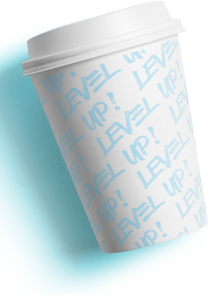 Level Up! Kaffeebecher - Cafè To Go