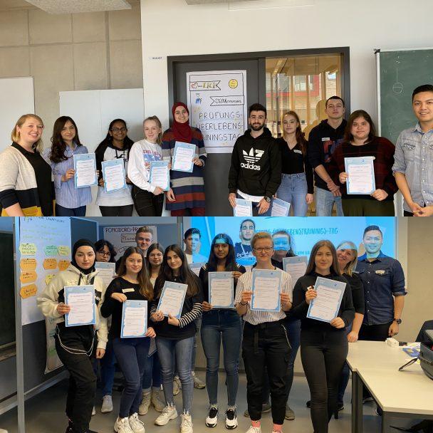 Schülerinnen und Schüler erhielten das PÜT-Zertifikat nach ihrer erfolgreichen Teilnahme.