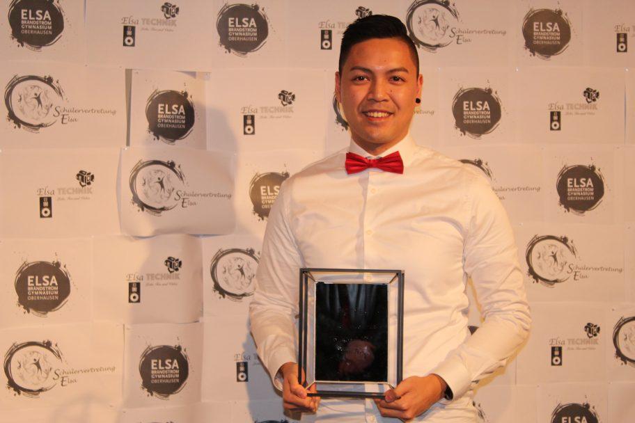Unser Talentscout Nam als einer der Preisträger bei der Party of Excellence (Foto: ELSA)