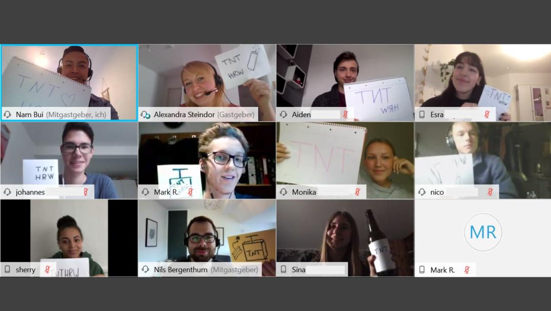 Die Teilnehmer:innen des Online-TNTs im Oktober 2020.