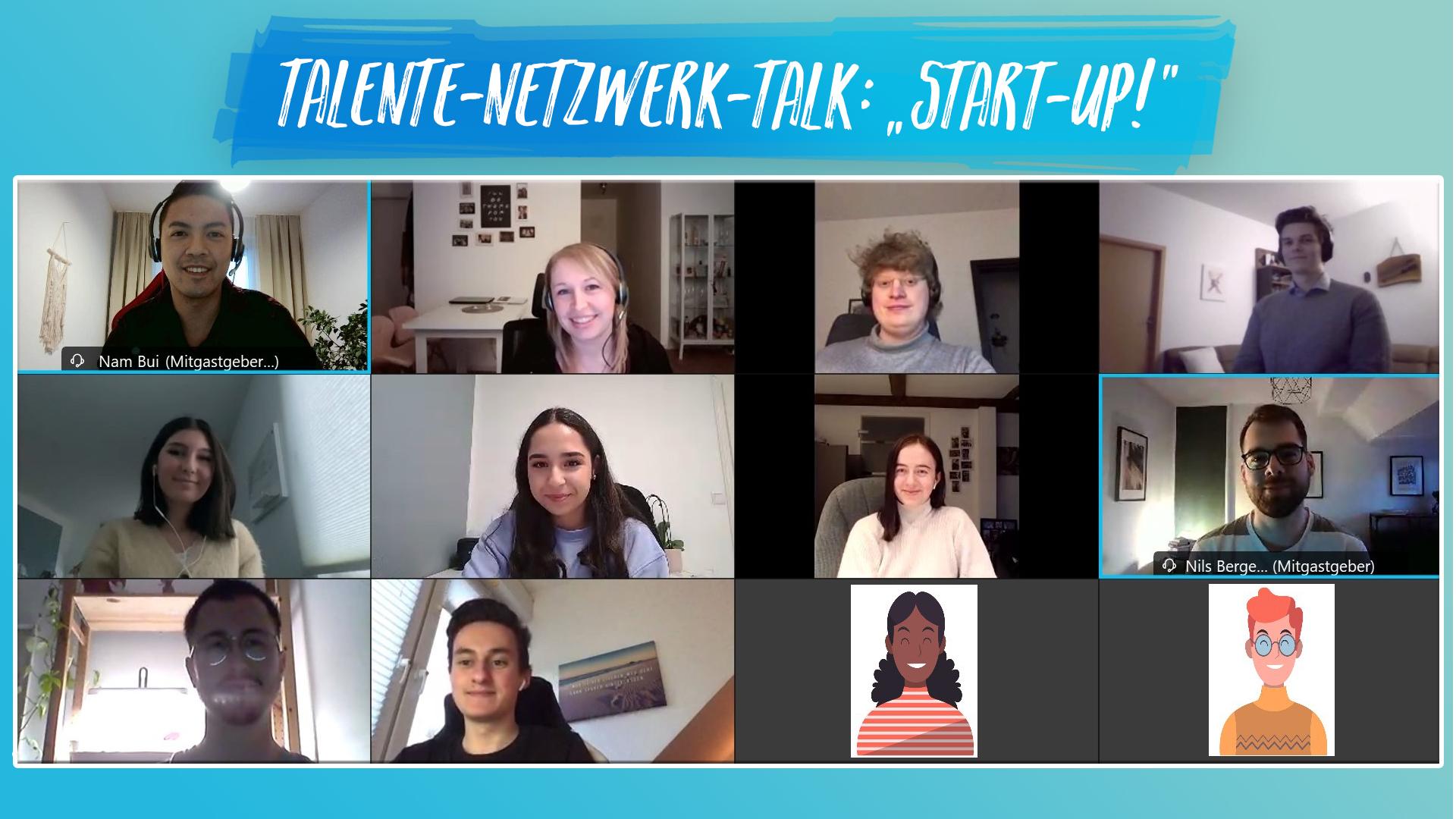 """TalenteNetzwerkTalk: """"Start-Up!"""""""