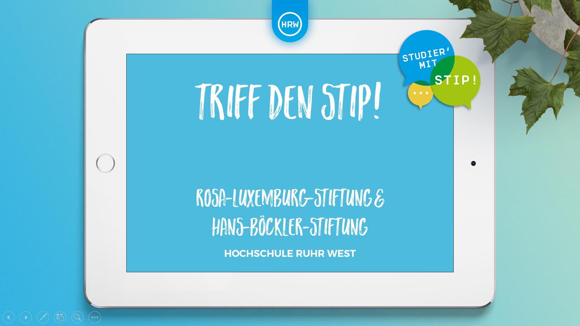 """""""Triff den Stip"""": Rosa-Luxemburg-Stiftung und Hans-Böckler-Stiftung"""""""